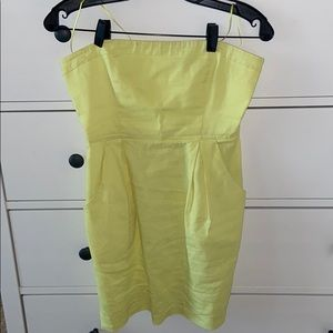Theory strapless dress